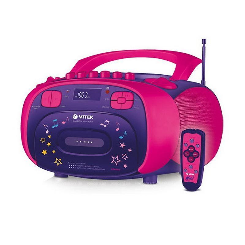 Магнитофон Vitek VT 4001 детский розовый