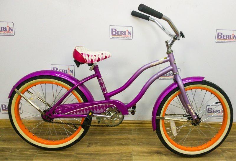 Велосипед 20 Huffy Cranbrook дамка фиолетовый хром