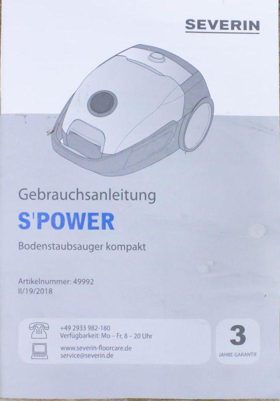 Пылесос Severin Spower 49992