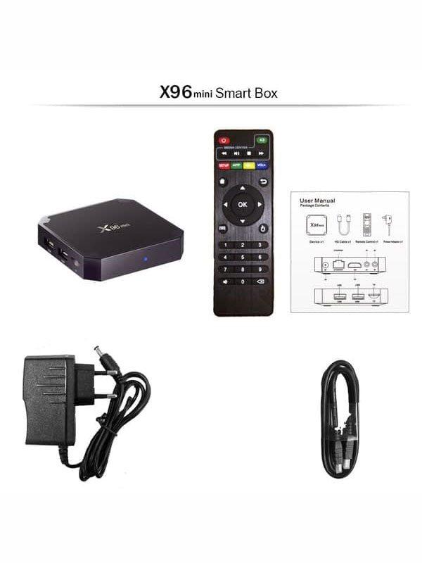 ТВ приставка X96 mini (2/16 Gb) 4-ядерная на Android 9