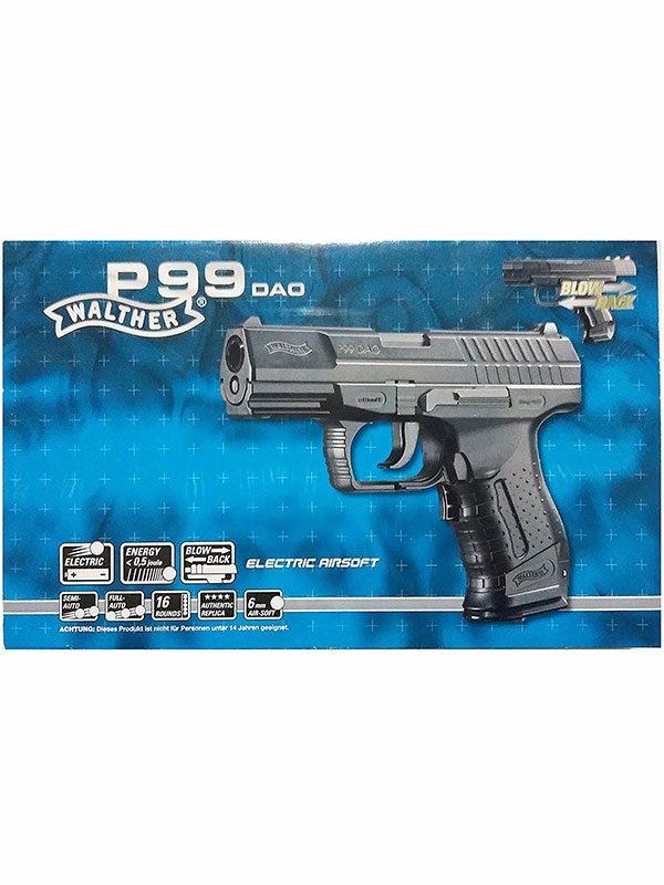 Пистолет игрушечный Walther Softair P99 DAO Electric