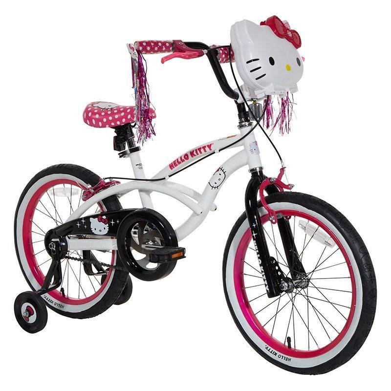 Велосипед 18 Hello Kitty детский белый хром