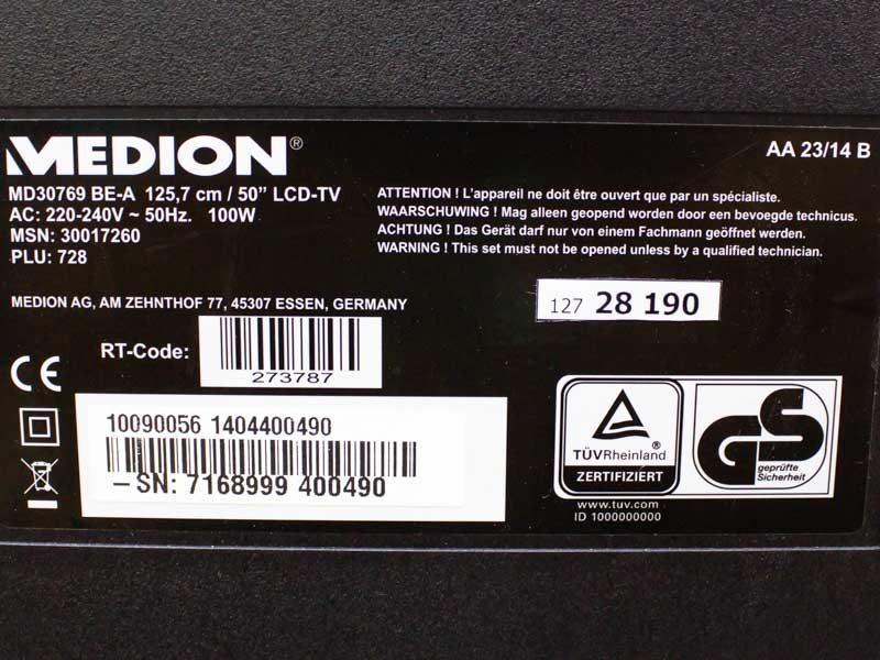 Телевизор Medion MD30769 BEA