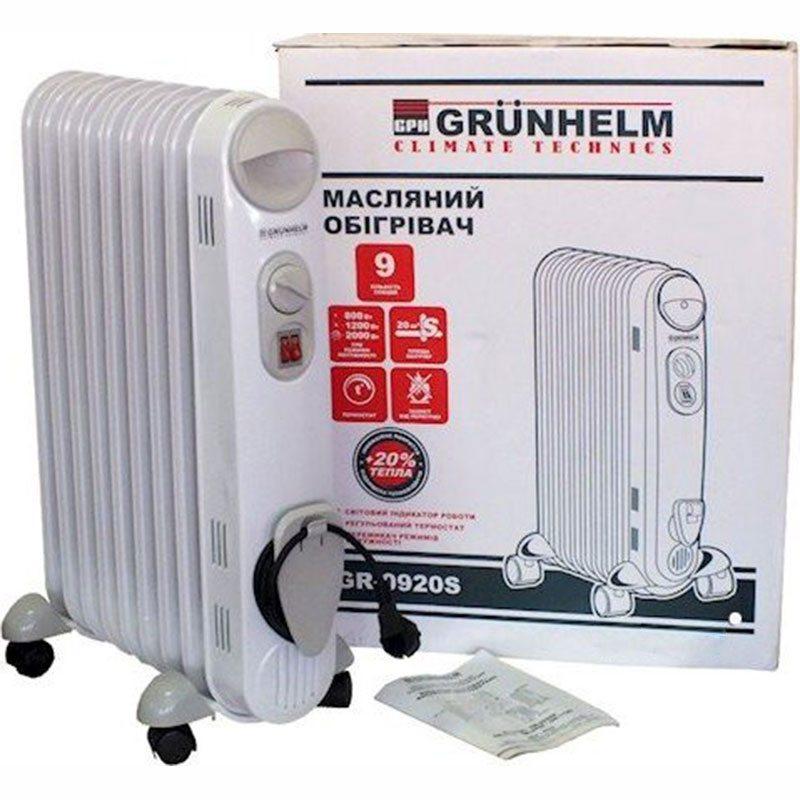 Обогреватель масляный Grunhelm GR-0920S 2000W